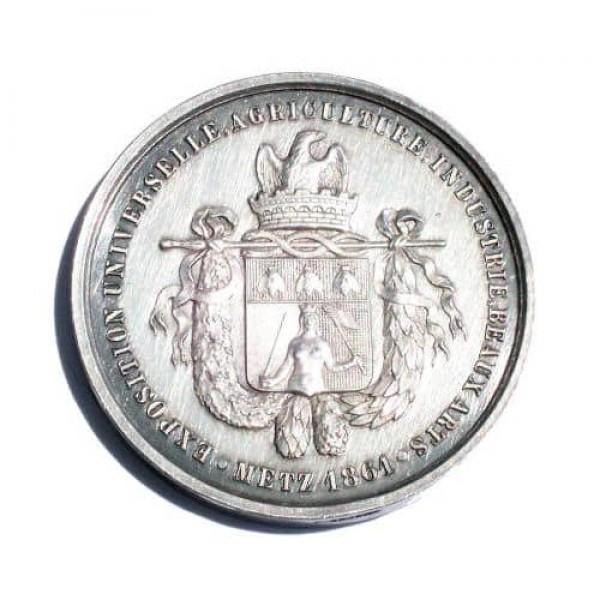 Médaille en argent de l'exposition universelle de Metz 1861