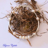 Perles de culture blanches et argents 925