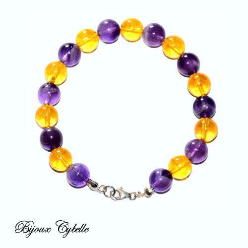 Améthyste Citrine bracelet