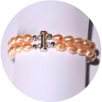Bracelet en perles de culture rose et argent 925