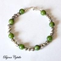 Bracelet en jade et argent 925