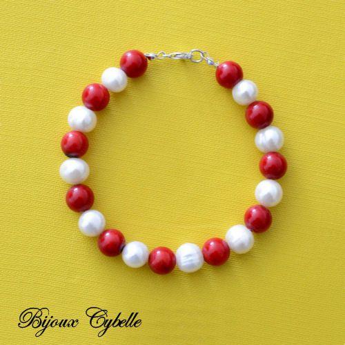 Perles de culture et corail