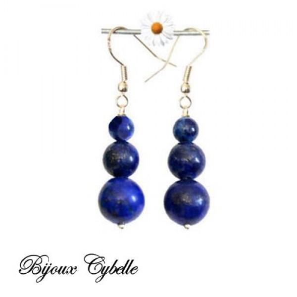 Lapis lazuli boucles d'oreilles