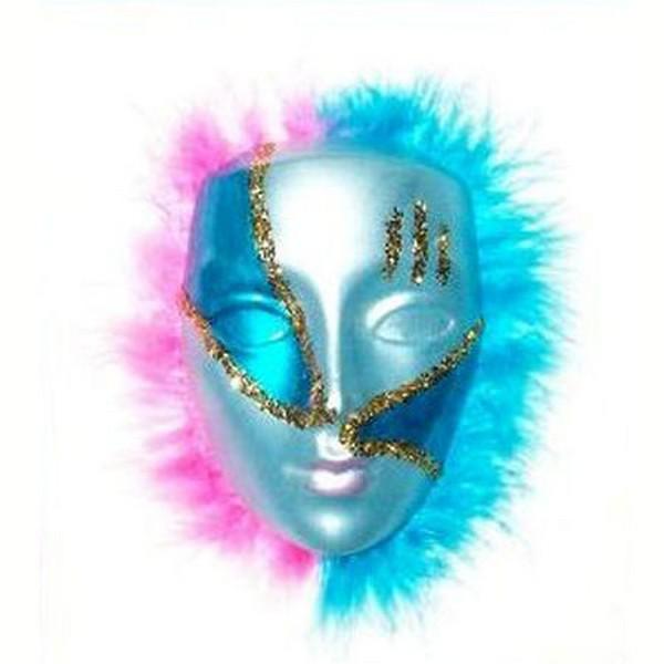Masque vénitien bleu.