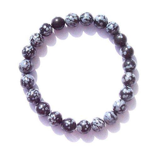 Obsidienne neige bracelet