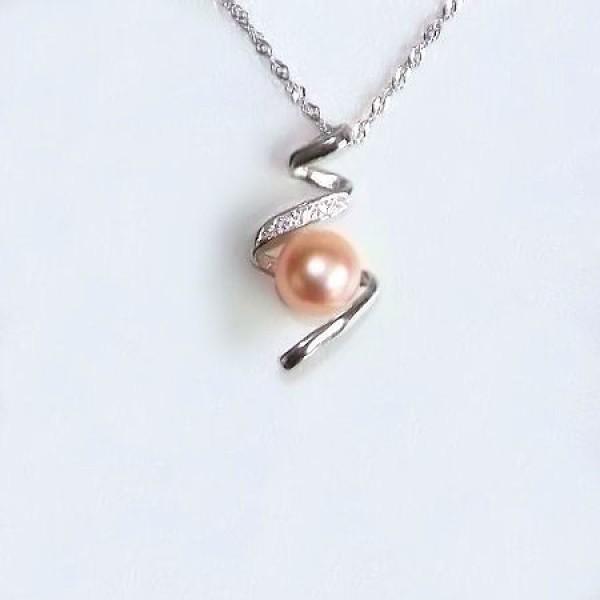 Perle d'eau douce rose.