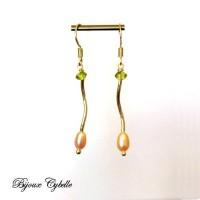 Boucles d\'oreilles perles de culture, périfot et argent 925