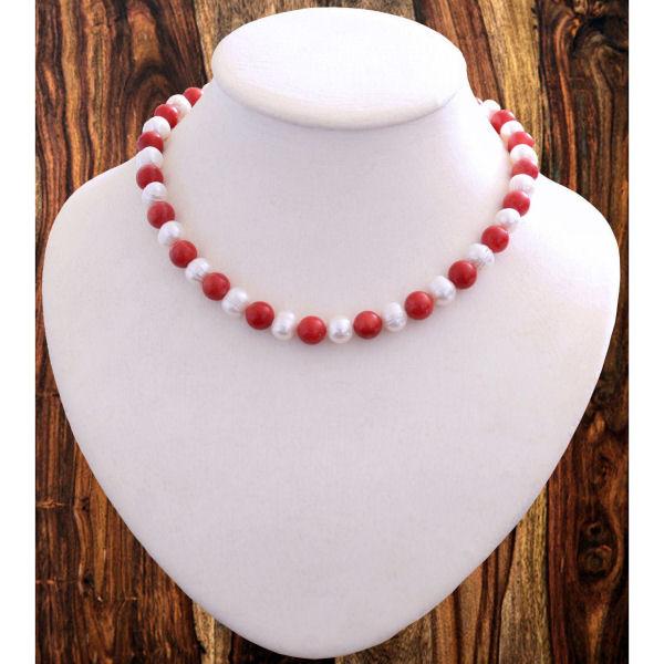 Collier - Perles de culture et Corail
