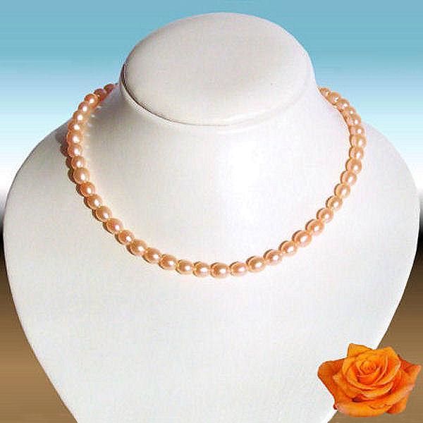 Collier - Perles de culture roses