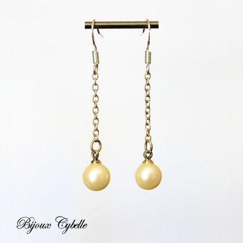 Boucles d'oreilles - perles de culture blanches