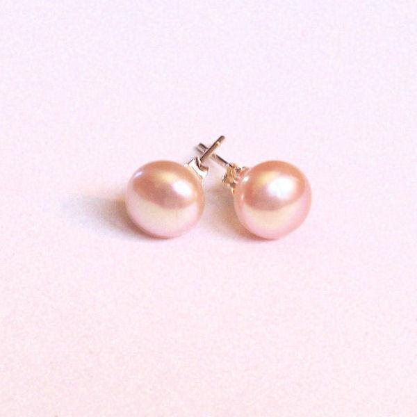 Boucles d'oreilles en perles de culture perles roses