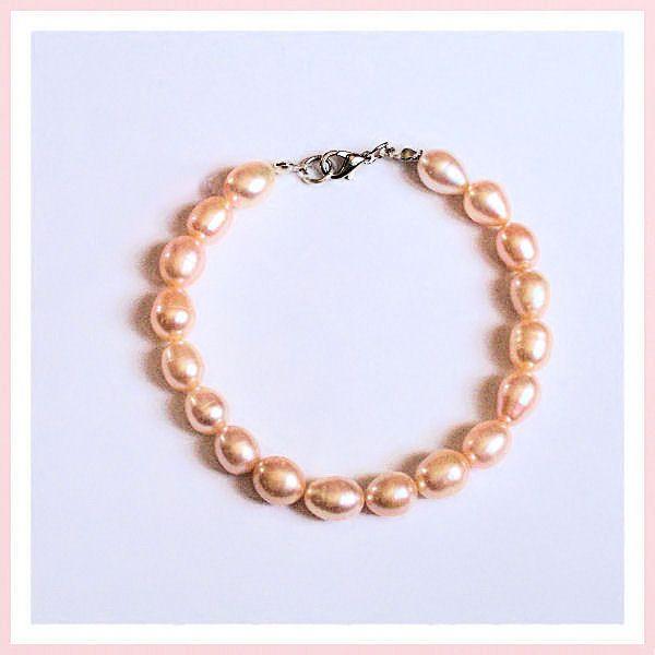 Perles de culture rose - Bracelet.