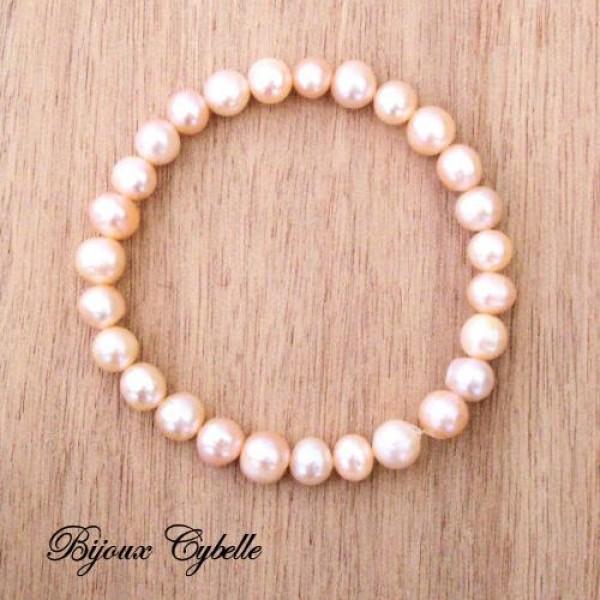 Perles de culture baroques - bracelet