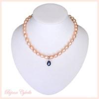 Collier en perles de culture roses et argent 925