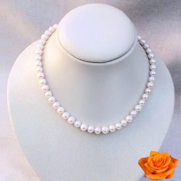 Perles de culture d'eau douce blanches